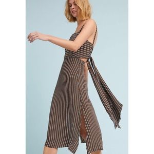 Faithful the Brand Tie-back striped dress